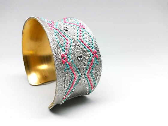 Bounty Cuff (pink,blue,silver)