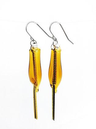 Miniature Distilled Earrings (amber)