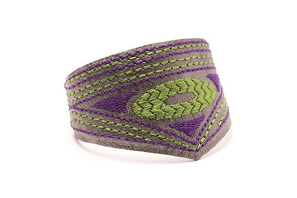 Evil Eye Embroidered Mercurial Cuff