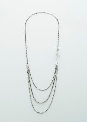 Unchain My Heart Necklace (silver arrow)