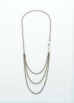 Unchain My Heart Necklace (brass arrow)