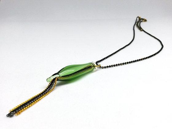 Miniature Distilled Choker Necklace (bottle green)