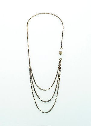 Unchain My Heart Necklace (brass owl)