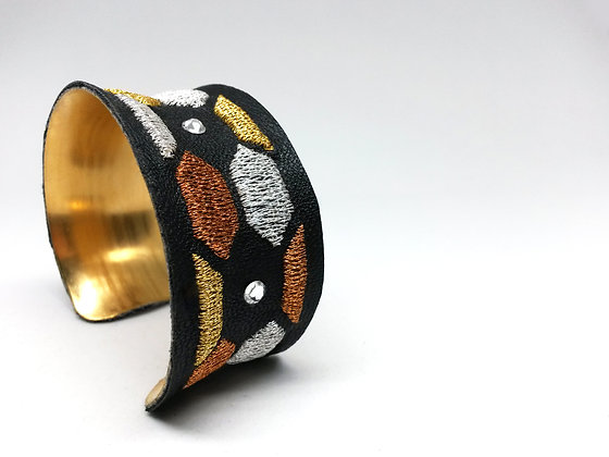 Bounty Cuff (hexagons on black)