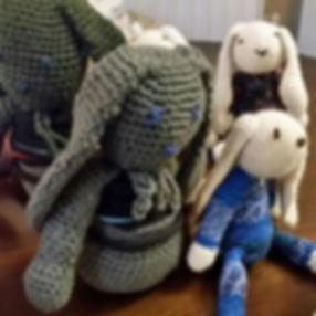 Hand crochet bunnies