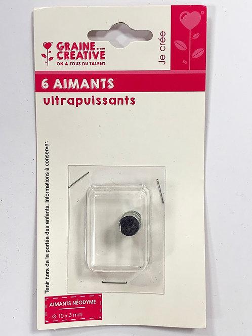 AIMANTS ULTRAPUISSANTS X6