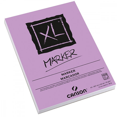 ALBUM XL 100 FEUIL. A3 CANSON MARKER 70G