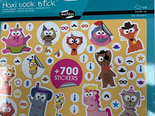 MAXI BOOK STICKERS 700PCS ANIMAUX DEGUISES