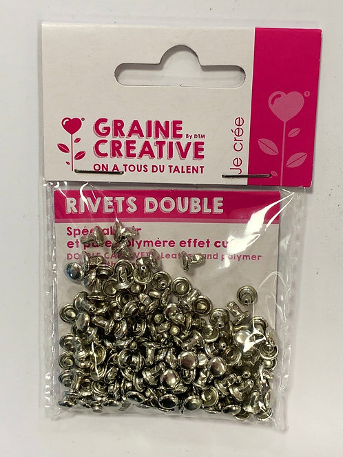 RIVETS DOUBLES CUIR 8X8-6X6MM 30PCSX2