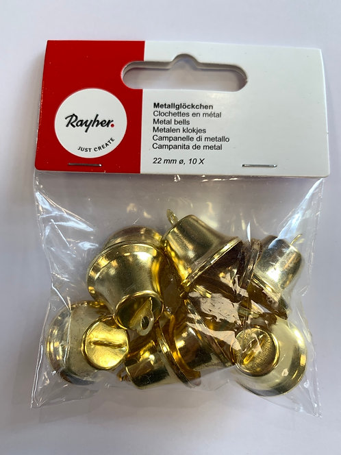 CLOCHETTES METAL 22 MM 10 PIECES