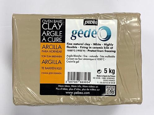 ARGILE A CUIRE BLANC CASSE GEDEO 5KG