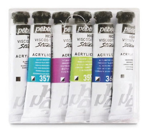 ACRYLIQUE STUDIO PACK PEBEO 6 TUBES 20ML