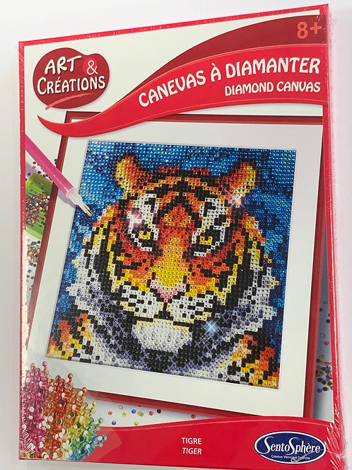 CANEVAS A DIAMANTER TIGRE