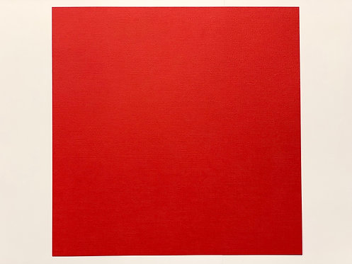 FEUILLE MAHE 30X30 ROUGE