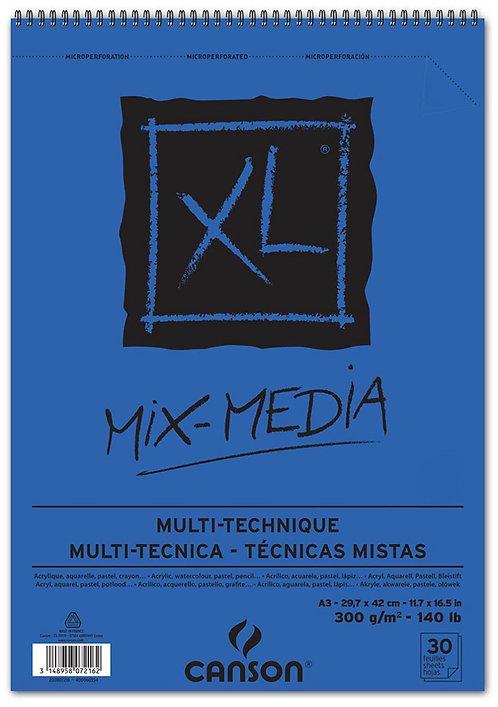 ALBUM XL 30 FEUIL. A3 CANSON MIX MEDIA 300G