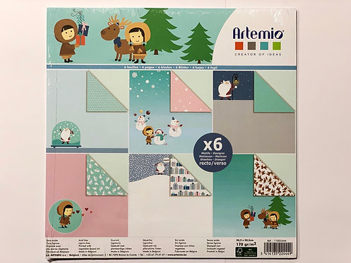 SET DE 6 FEUILLES 170G MY LITTLE XMAS
