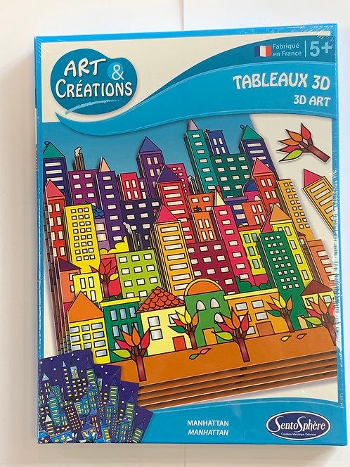 TABLEAU 3D ART GRATTE-CIEL