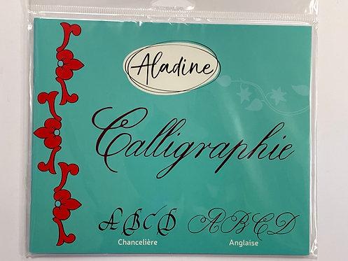 CAHIER DE CALLIGRAPHIE ANGLAISE SUR CARTE