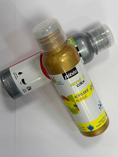 ACRYCOLOR PEBEO 150ML OR ARGENT