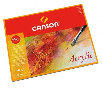 BLOC 10 FEUIL. CANSON ACRYLIC 400G 32X41CM