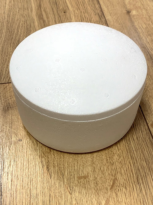 BOÎTE POLYSTYRENE RONDE + COUVERCLE