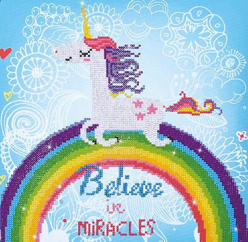 BRODERIE DIAMANT BELIEVE MIRACLES 35X35CM
