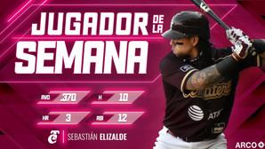 SEBASTIAN ELIZALDE, DESIGNADO EL JUGADOR DE LA SEMANA EN LA LIGA ARCO MEXICANA DEL PACIFICO