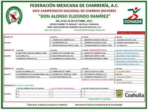 DESDE ESTE JUEVES EL CAMPEONATO NACIONAL DE CHARROS MAYORES AQUI