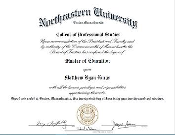 m.ed. Master of Education
