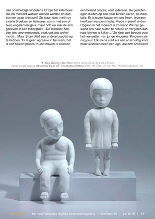 Dutch Ceramic magazine - De kleine K , issue 55, 2019