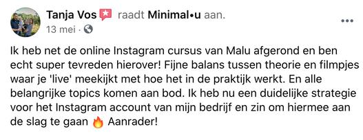 instagramcursus_minimal-u_recensie_tanja