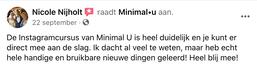 instagramcursus_minimal-u_recensie_nicol