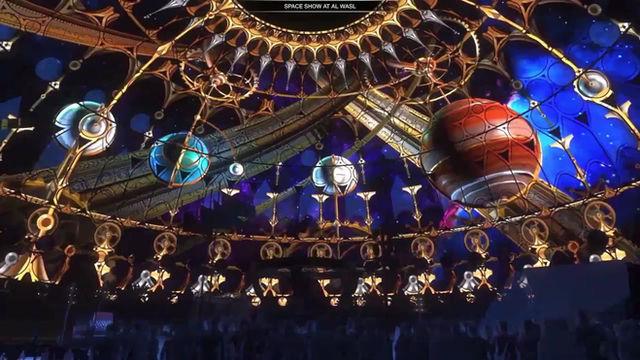 Al Wasl Plaza's Stunning Trellis Projection Tests