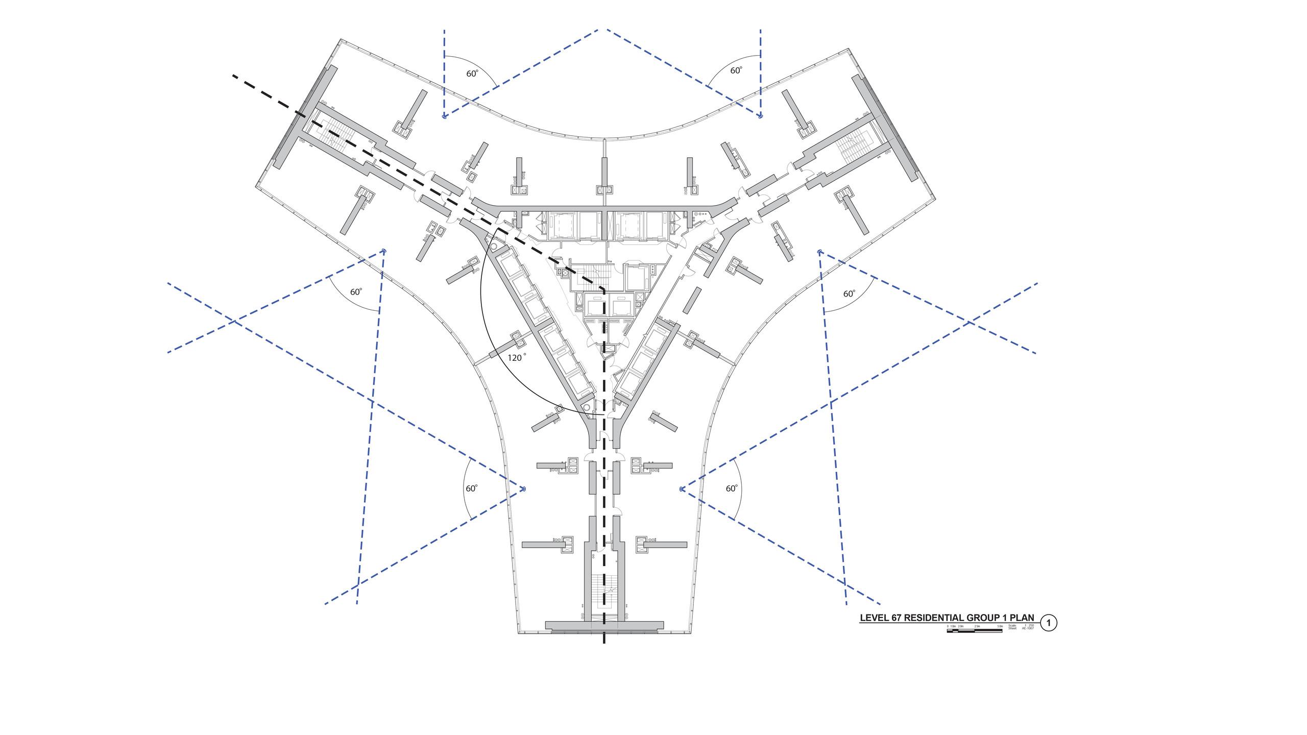 Fig-3 Y-shaped plan