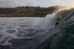 """Josh on a 5' 6"""" at his locale in Raglan, NZ"""