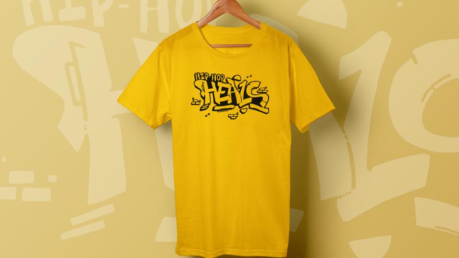 YELLOW KIDS Hip Hop HEALS Fundraising Teeshirt