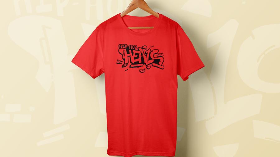 RED Hip Hop HEALS Fundraising Teeshirt