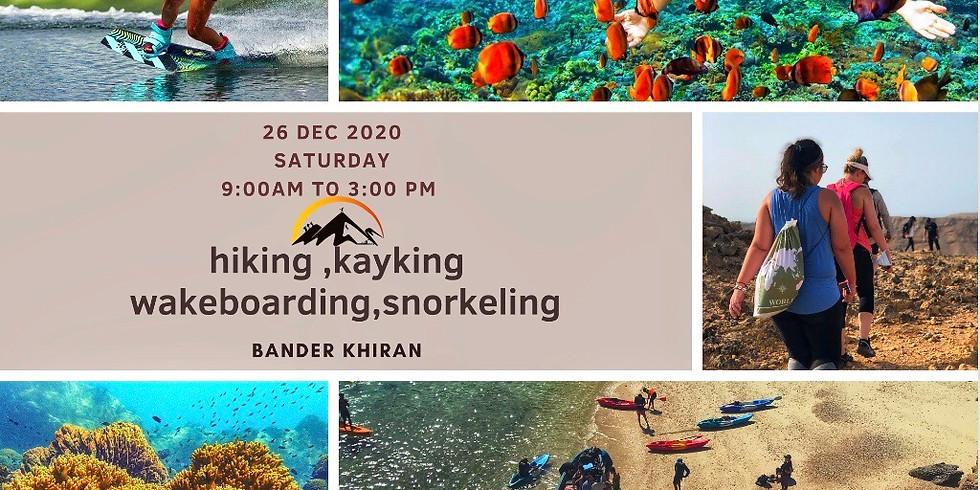 Hiking , kayking snorkeling