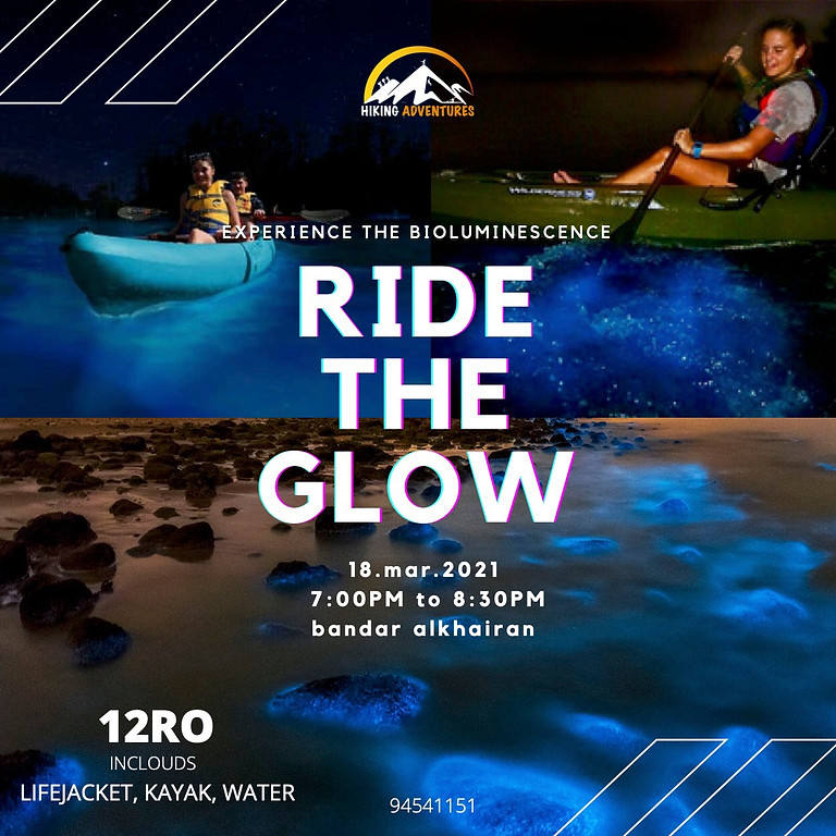 ride the glow kayaking