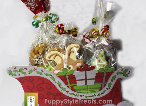 Grain-free Christmas Dog Treats Basket