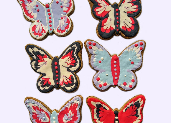 Butterflies Decorated Treats - set of 12