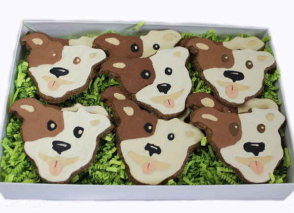 Pit Bull Decorated Treats Gift Set
