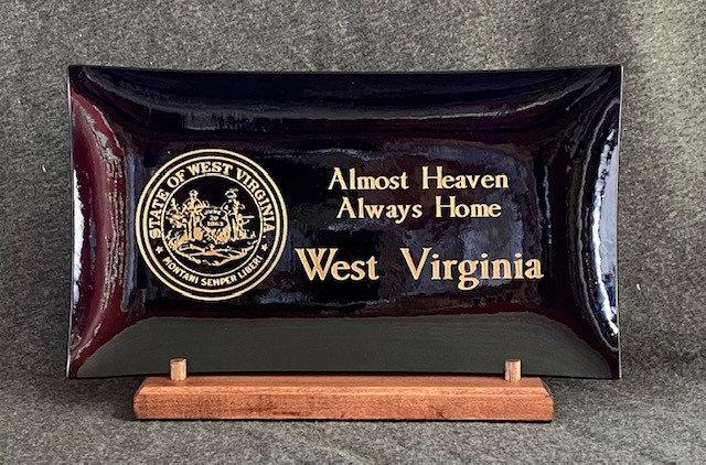 Platter, Cobalt blue, West Virginia, Almost Heaven Always Home (TM)