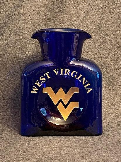 Blenko water bottle, Cobalt blue, WV design