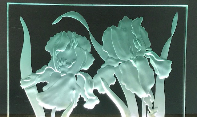 Irises carved and lighted.jpg