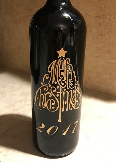 Merry Christmas Wine Bottle