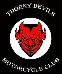 Thorny Devils White writing black backgr