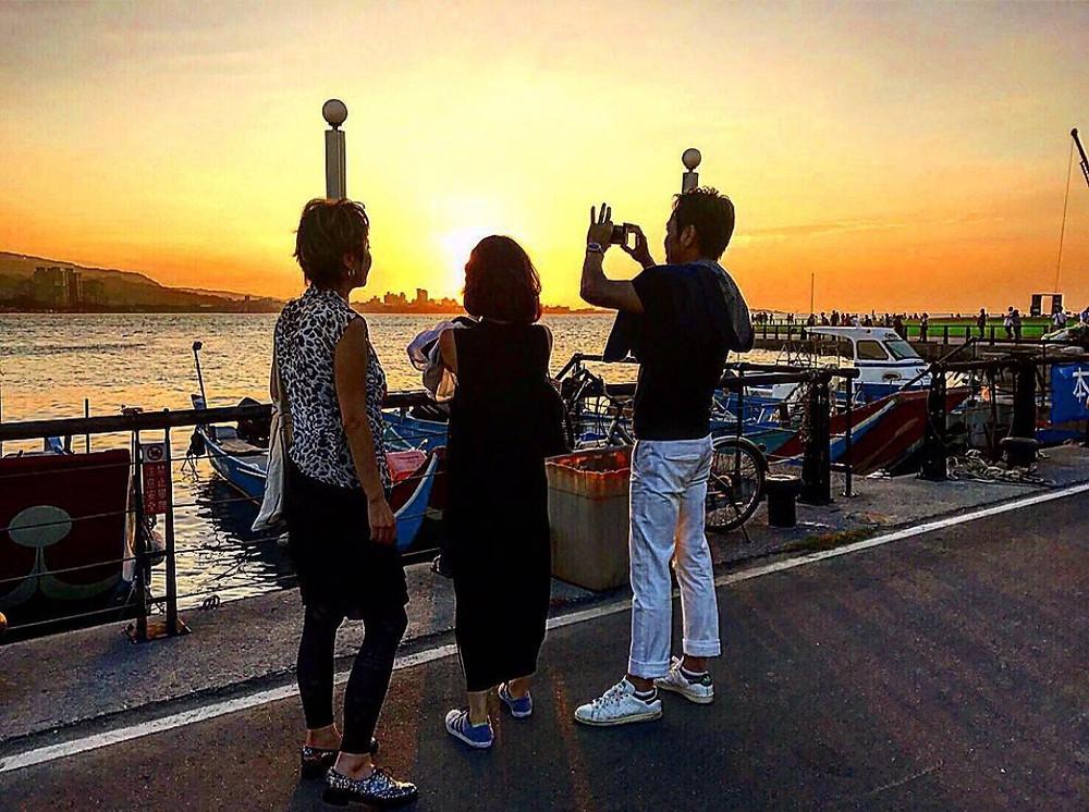 台湾の夕日の写真