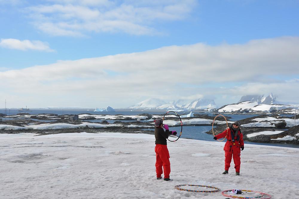 南極でのワークショップの写真