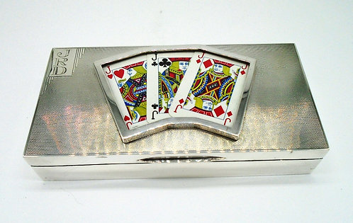 Silver Playing Cards Box Mappin & Webb 1934